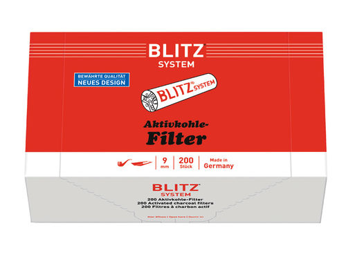 BLITZ SYSTEM pipefilters 9mm, 200 pieces